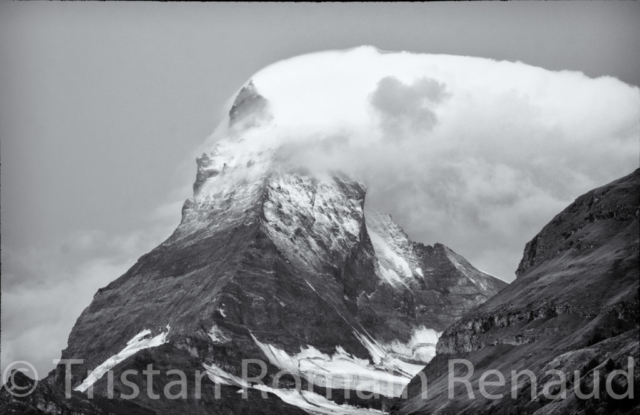 Clouds and wind on the Matterhorn